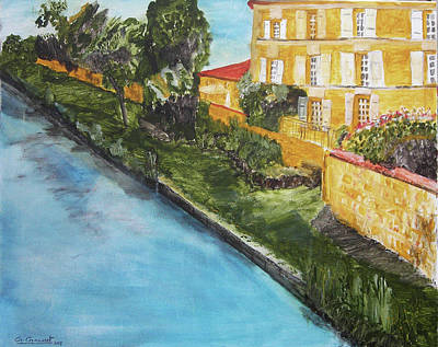 Charente Maritime Painting - Riverfront by Kapy Art