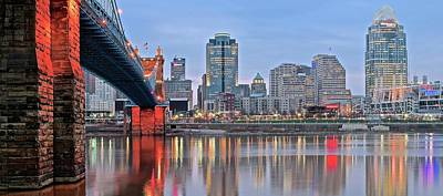 Photograph - Riverfront Panoramic View Of The Queen City by Frozen in Time Fine Art Photography