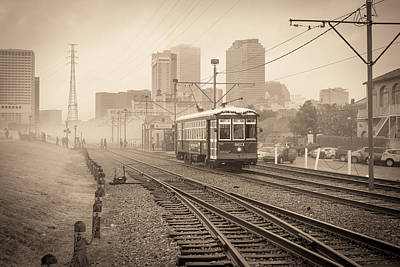 Photograph - Riverfront Streetcar by Scott Rackers