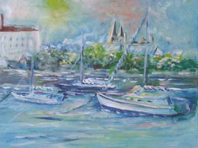 Riverfront Sunrise St Augustine Original by Patricia Ducher