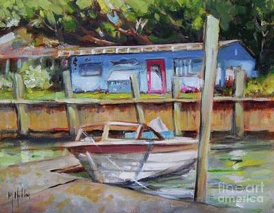 Painting - Riverkeeper's Fish Camp by Mary Hubley