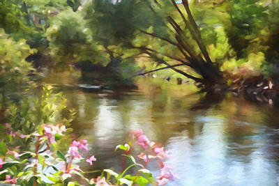 Impressionistic Landscape Painting - Riverlight by Lutz Baar