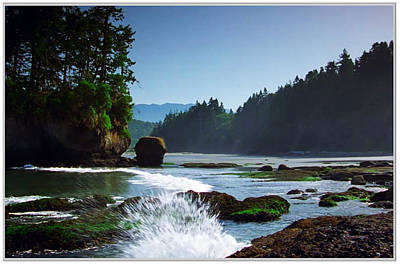 Navinjoshi Mixed Media - Rivers And Lakes Around Olympic National Park America by Navin Joshi