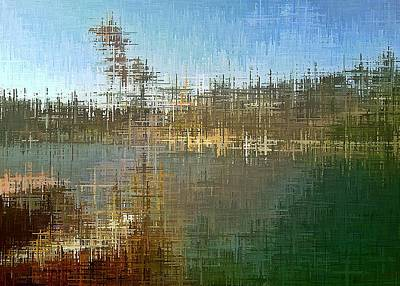 Digital Art - River's Edge by David Manlove