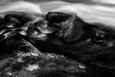 Rock Photograph - Rivers Edge In Black And White by Greg Mimbs