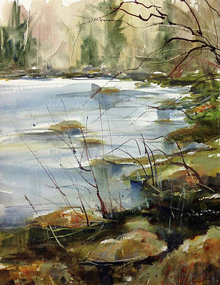 Painting - Rivers Edge by Judith Levins