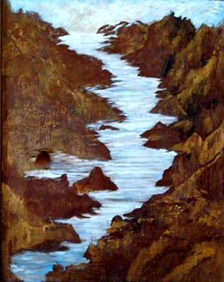 Art Print featuring the painting Rivers End by Sherri  Of Palm Springs