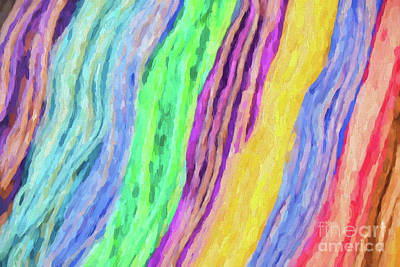Photograph - Rivers Of Color Abstract by Sharon McConnell