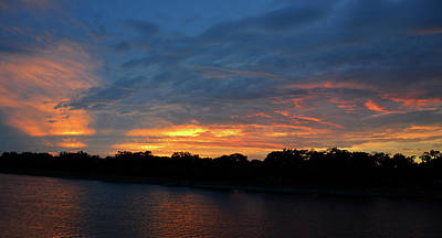Photograph - Rivers Sunset by David Lee Thompson
