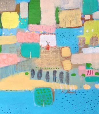 Painting - River's Talk by Khalid Alaani
