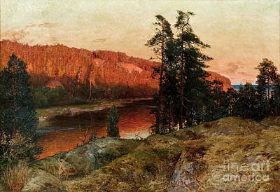 Painting - Riverscape by Celestial Images