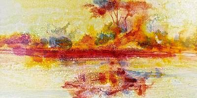 Painting - Riverscape In Red....part 2 by Carolyn Rosenberger
