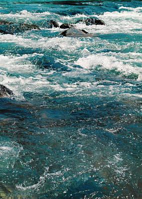Resin Digital Art - Riverscape K1 by Filippo B