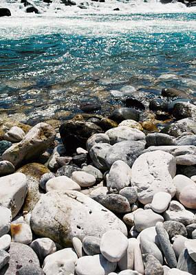 Abstract Seascape Digital Art - Riverscape K2 by Filippo B