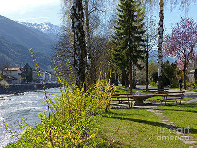 Photograph - Riverside At Lienz  by Phil Banks