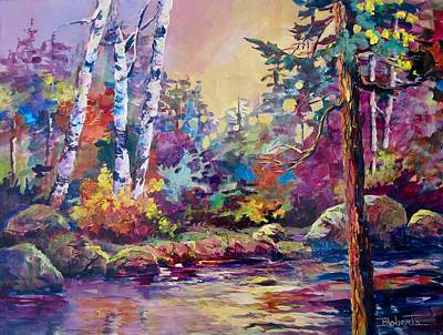 Painting - Riverside Birch by Bonny Roberts