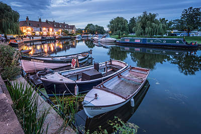 Photograph - Riverside By Night by James Billings