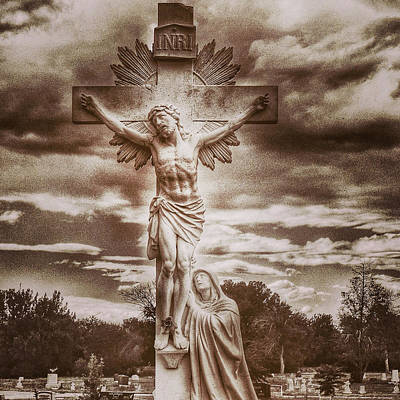 Photograph - Riverside Cemetery Sepia by Gia Marie Houck