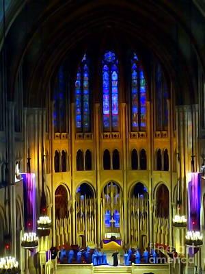 Digital Art - Riverside Church #2 by Ed Weidman