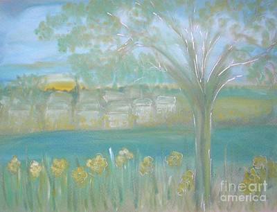 Pastel - Riverside Hazy Dawn by Karen Jane Jones