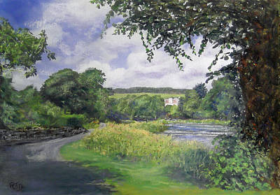 Painting - Riverside House And The Cauld by Richard James Digance