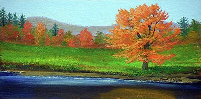 Painting - Riverside Maple by Frank Wilson