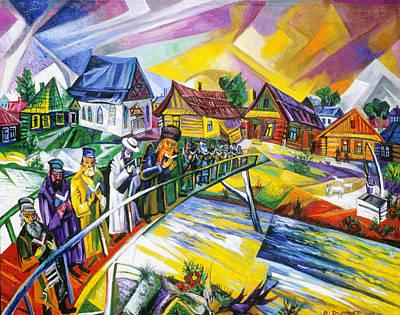 Roussimoff Wall Art - Painting - Riverside Prayers by Ari Roussimoff
