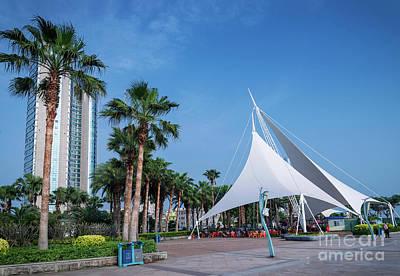 Photograph - Riverside Promenade Pedestrian Park Area In Central Xiamen City  by Jacek Malipan