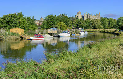 Arundel Castle Photograph - Riverside Reflections by Geoff Smith