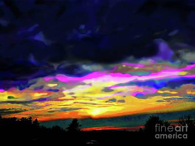 Photograph - Riverside Sunset by Expressionistart studio Priscilla Batzell