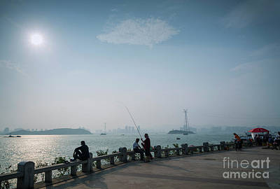 Photograph - Riverside Urban Promenade At Sunset In Xiamen City China by Jacek Malipan