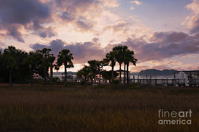 Photograph - Rivertowne On The Wando Sunset Sky by Dale Powell