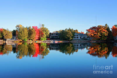 Photograph - Riverview In Autumn by Charline Xia