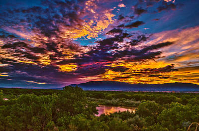 Sandia mountains photographs fine art america sandia mountains photograph riverview sunrise by richard estrada sciox Choice Image