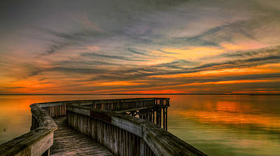 Photograph - Riverview Sunset by Jerry Gammon