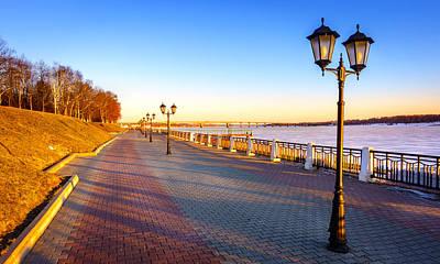 Photograph - Riverwalk Along The Volga River by Alexey Stiop