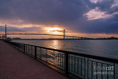Photograph - Riverwalk Ambassador Bridge by Rachel Cohen