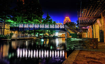 Riverwalk Bridge Art Print