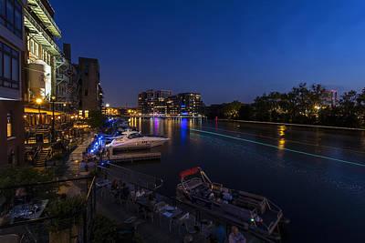 Riverwalk Photograph - Riverwalk Dining by CJ Schmit
