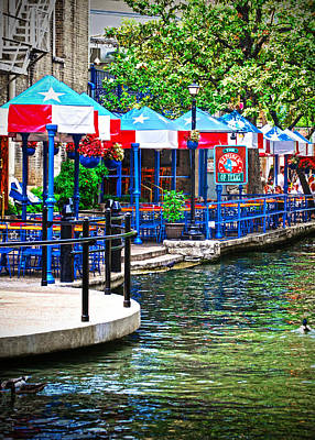 Photograph - Riverwalk Dining by Judy Hall-Folde