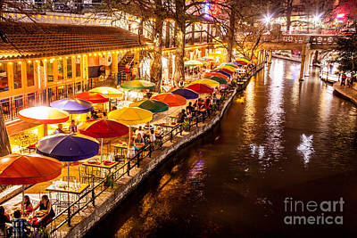 Riverwalk District Art Print by Iris Greenwell