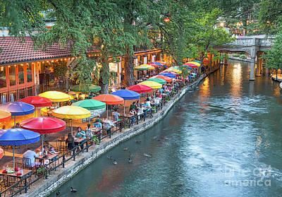 Riverwalk In San Antonio Art Print