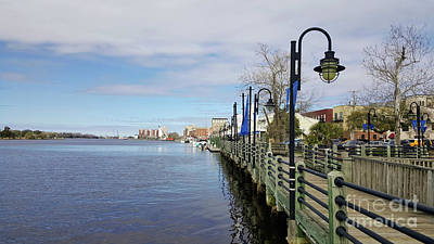 Photograph - Riverwalk In Wilmington Nc by Roberta Byram