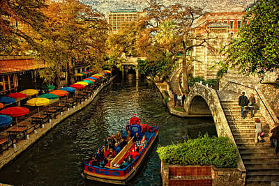 Riverwalk Art Print by Iris Greenwell