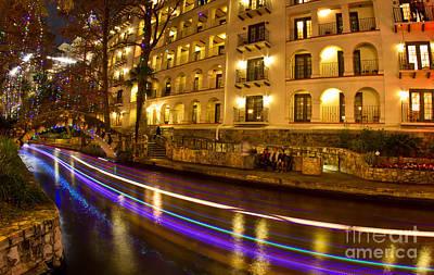 Photograph - La Mansion Del Rio Riverwalk Christmas by Michael Tidwell