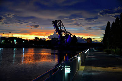 Photograph - Riverwalk Night by David Lee Thompson