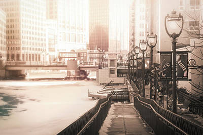 Photograph - Riverwalk Stroll In Winter by Joel Witmeyer