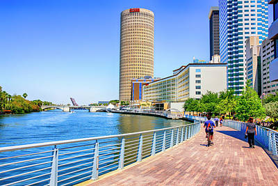 Photograph - Riverwalk Tampa Fl by Chris Smith