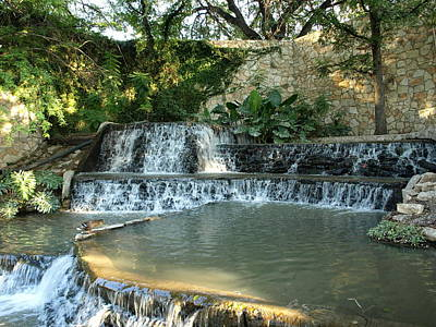 Riverwalk Waterfall Art Print by Dennis Stein