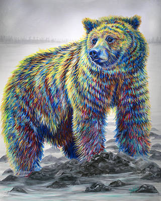 Kodiak Painting - Riverwalker by Teshia Art